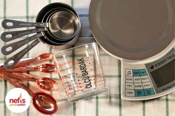 resimli mutfak ölçüleri
