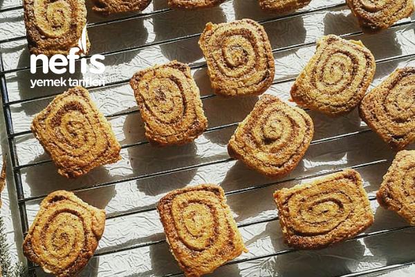 Cinnamon Rolls Cookies (Tarçınlı Rulo Kurabiye) Tarifi