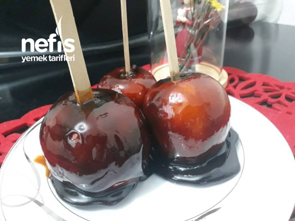Harika Çok Çok Lezzetli Elma Şekeri(visne Sulu)