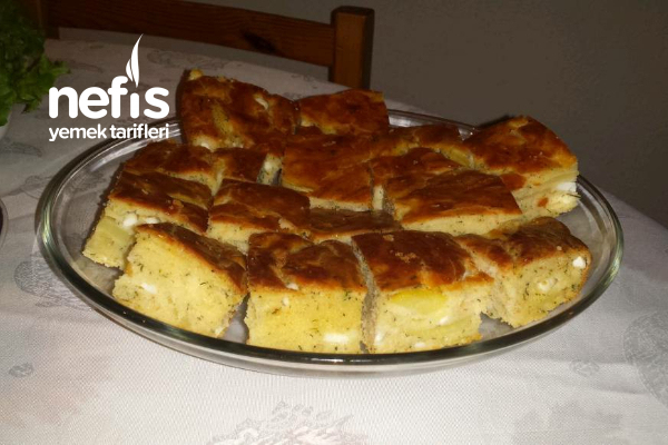Patatesli Peynirli Tuzlu Kek (Mısır Unlu) Tarifi