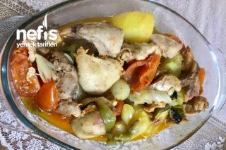 Yağsız Sebzeli Bonfile Tavuk Tarifi