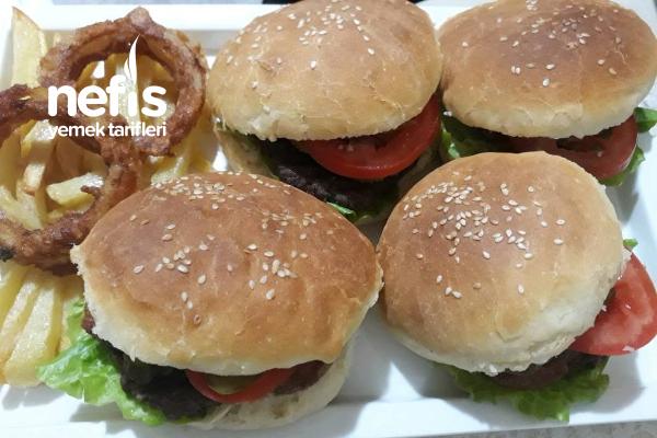 Ev Yapımı Hamburger Patates Kızartması Ve Soğan Halkası Tarifi