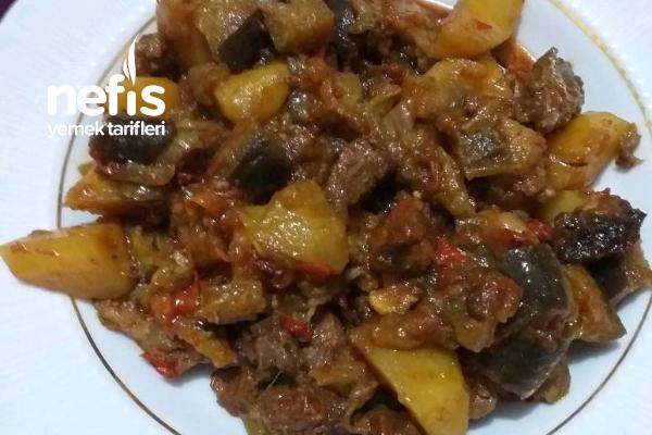 Güveçte Etli Patlıcan Yemeği Tarifi