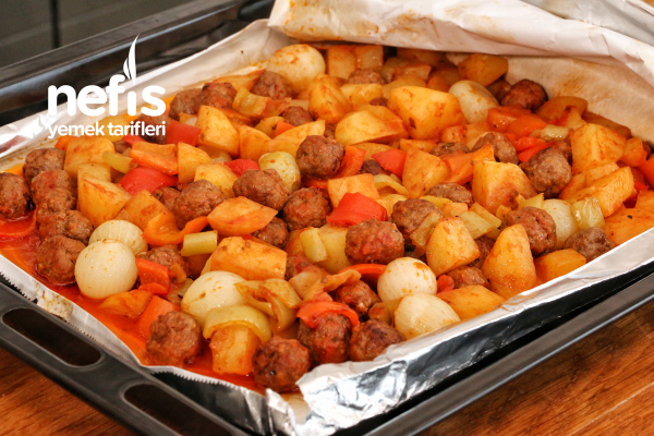 Köfteli Kağıt Kebabı (videolu) Tarifi