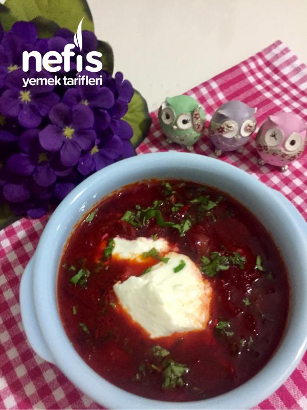 Pancarlı beyaz lahana çorbası(borş)