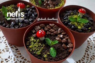 Saksıda Çiçek Görünümlü Muhallebi Tarifi