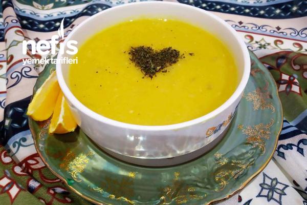 Altın Sarısı Mercimek Çorbası (Et Suyunda) Tarifi