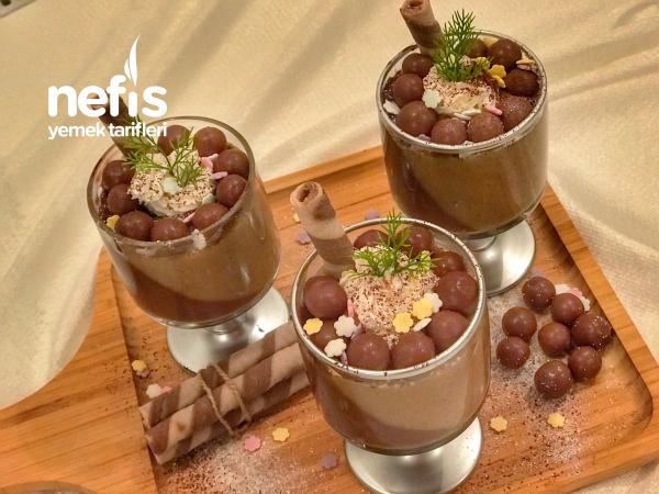 Kahveli Çikolatalı İki Renkli Kup