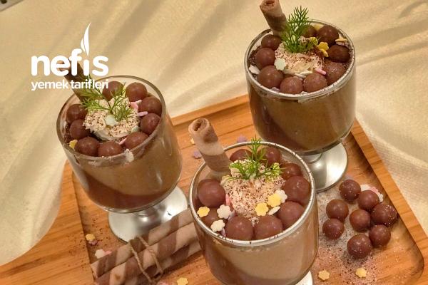 Kahveli Çikolatalı İki Renkli Kup Tarifi