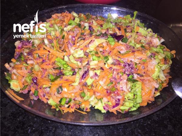 Kış Ayına Özel Renkli Salata