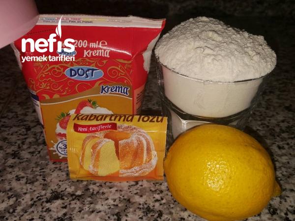 Bulut Tatlısı ( Limon Aromalı Ve Az Malzeme İle )