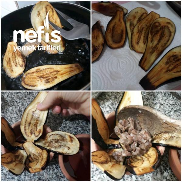 Patlıcan Perdeli Kavurmalı Pilav