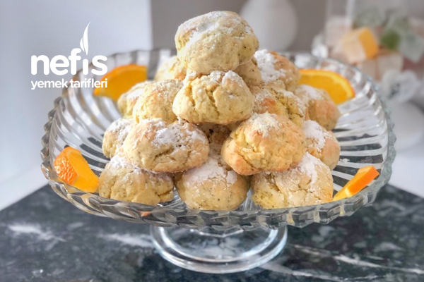 Portakallı Haşhaşlı Çatlak Kurabiye ( Nefis Tarif)