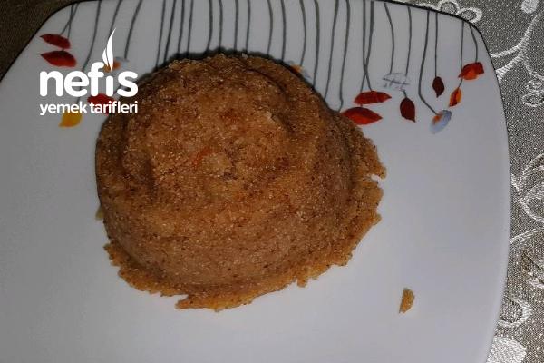 Portakallı İrmik Helvası (Çikolata Soslu)