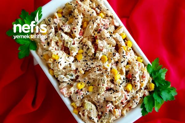 Tam Buğday Makarna Salatası (Ton Balıklı) Tarifi