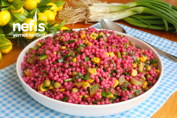 Kaşık Kaşık Yedirten Şalgamlı Kuskus Salatası Tarifi (videolu)