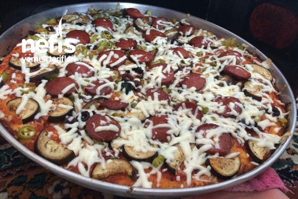 Patlıcanlı Ev Pizzası Tarifi