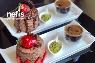 Porsiyonluk Çikolatalı Pasta Tarifi