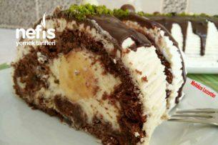 Kakaolu Muzlu Muhteşem Rulo Pasta Tarifi