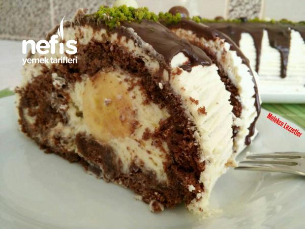 Kakaolu Muzlu Muhteşem Rulo Pasta