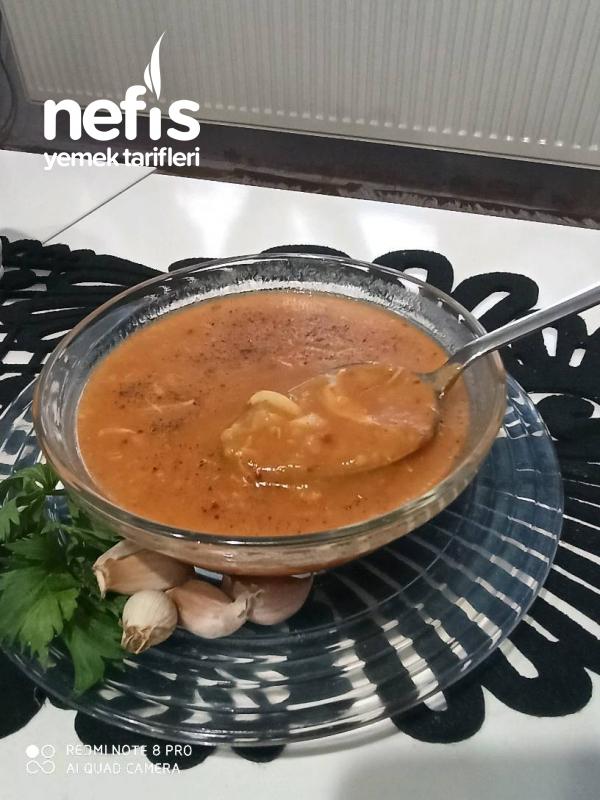 Mis Gibi Tarhana Çorbası ( Sarımsak Ve Tavuk Suyuyla,daha Bir Lezzetli)