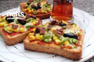 Pratik Pizza (Tost Ekmeğinde) Tarifi