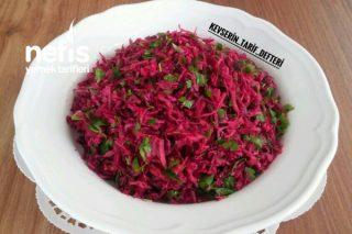 10 Dakikada Turşu Tadında Mor Lahana Salatası Tarifi