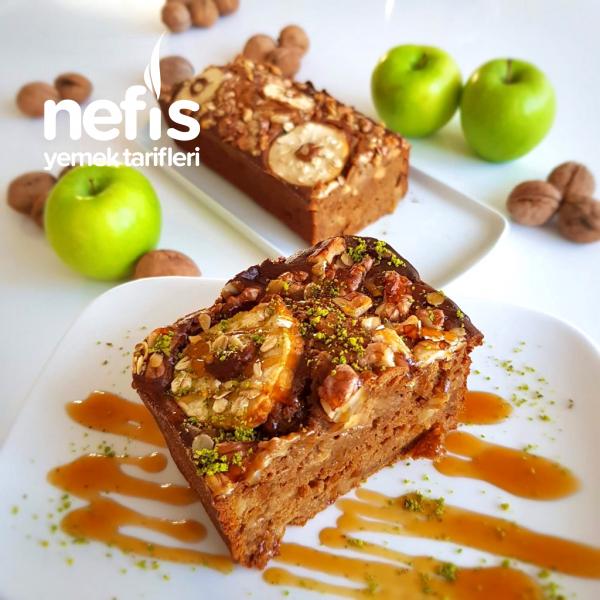 Elmalı Kahveli Kek (İlave Şekersiz)