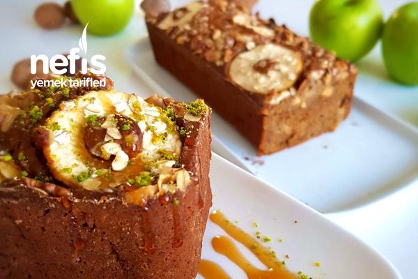Elmalı Kahveli Kek (İlave Şekersiz) Tarifi