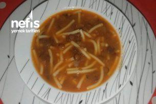 Erişteli Kara Mercimek Çorbası Tarifi