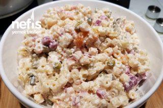 Patlıcanlı Pancar Turşulu Makarna Salatası Tarifi