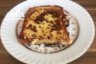 Tavada Peynirli Ve Yumurtalı Ekmek Tarifi