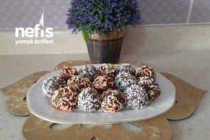 2 Malzemeli Çikolatalı Toplar (Videolu) Tarifi