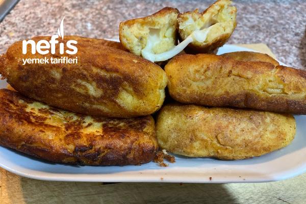 Kaşarlı Patates Köftesi (Patates Kaşar Peyniri Ve Nişastanın Lezzet Uyumu) Tarifi