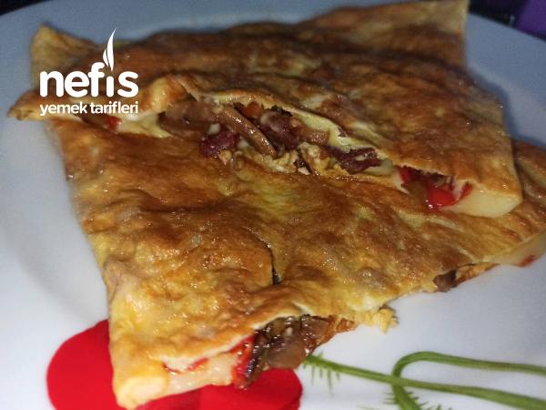 Mantarlı Sebzeli Omlet (Bayılacaksınız)