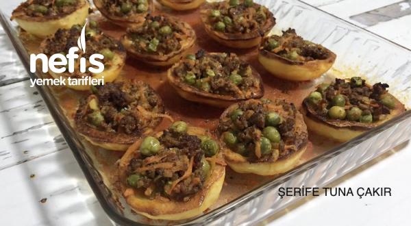 Bezelyeli Kıymalı Patates Çanağı (Videolu)