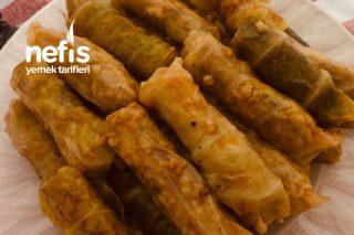 Bulgurlu Etli Tadında Ekşili Bol Baharatlı Lahana Sarması Tarifi