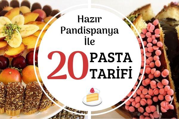 Hazır Pandispanya ile Şipşak 20 Pasta Tarifi