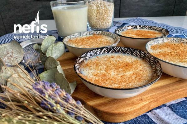 Nişastasız Pirinç Unsuz Tam Kıvamında Sütlaç Tarifi