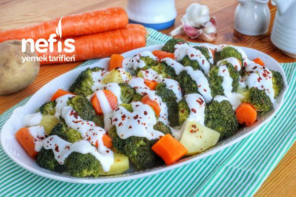 Buharda Karışık Sebze Salatası (videolu) Tarifi