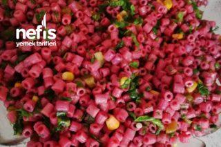 Pembe Makarna Salatası Tarifi
