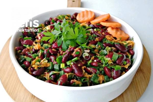 Fasulye Salatası (Videolu) Tarifi