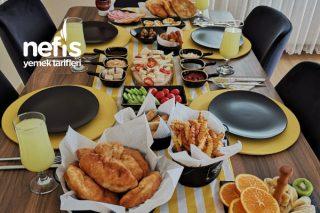 Kahvaltı Sunumu (Sarı-Siyah Konsept) Tarifi