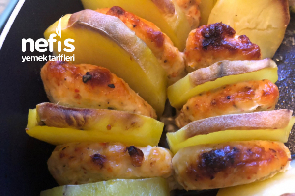 Fırında Patatesli Tavuk Köfte Tarifi