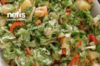 Marul Kornişon Turşulu Patates Salatası Tarifi
