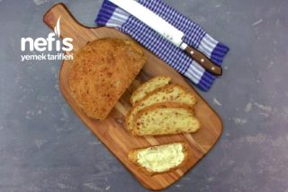 Soğanlı Kaşar Peynirli Somun Ekmek Tarifi