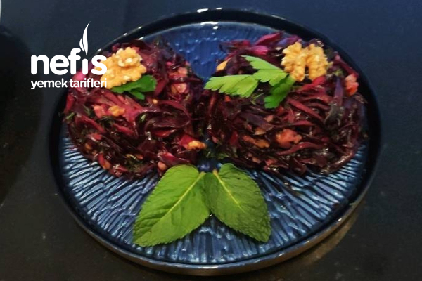 Kırmızı Lahana Salatası Meze Tarifi