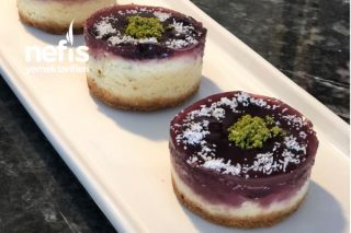 Porsiyonluk Vişneli Cheesecake (En Hafif Ve Lezzetli Cheesecake) Tarifi
