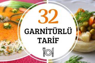Garnitürlü Salatalar ve Yemekler 32 Değişik Tarif Tarifi