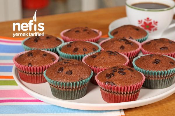 Kakaolu Muffin Kek (Yumuşacık) (videolu) Tarifi